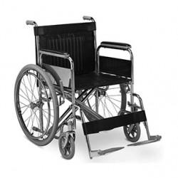 Silla de ruedas estándar cromada