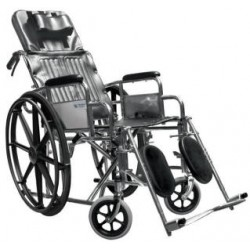 Silla de ruedas traumatóloga reclinable